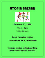 Utopia Bazaar - Oct. 1st - Waterdown