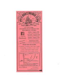 34th Bracebridge Antique and  Show and Sale Aug 25,26,27th