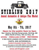 STIRLING AUTOMOTIVE FLEA MARKET 2017 May 6 - May 7, 2017