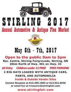 STIRLING AUTOMOTIVE FLEA MARKET 2017 May 6 - May 7, 2017 Peterborough Peterborough Area image 1