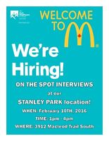 ON THE SPOT INTERVIEWS at our STANLEY PARK location!