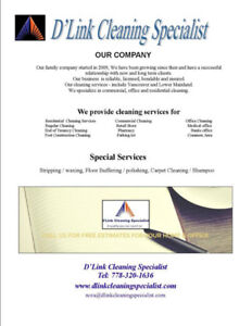 Janitorial Cleaning Service Richmond/ Vancouver/Lower Mainland