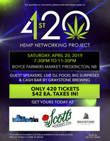 1ST 420 HEMP NETWORKING PROJECT - ONLY 420 TICKETS AVAILABLE