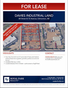 Davies Industrial Land for Lease