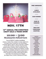 18th Annual Pre-Christmas Montmartre Craft Sale and Trade Show