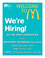 ON THE SPOT INTERVIEWS at our DEERFOOT MEADOWS location!