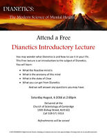 FREE DIANETICS LECTURE