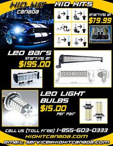 BEST PRICE & QUALITY HID LIGHT CONVERSION KIT LED BAR & BULBS