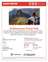G Adventures Travel Talk with Flight Centre and Outter Limits