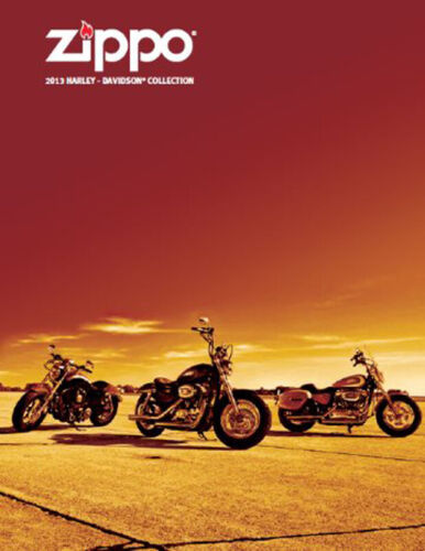 Zippo Lighter 2013 Harley Davidson Collection Product Price Catalog Book