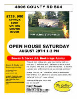 OPEN HOUSE year round Crowe River home/cottage $229,900