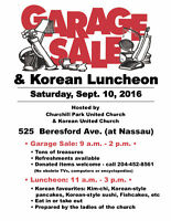 Annual Garage Sale & Korean Luncheon