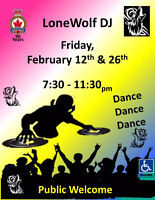 LoneWolf February Friday  12th,  Friday 26th Music By: DJ DAN  7