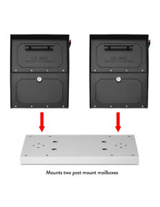NEW in Box Architectural Mailboxes Duo Spreader Plate Pearl Gray
