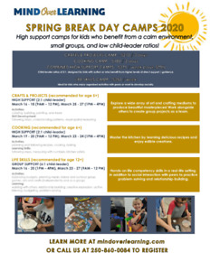 High Support Spring Break Camps - Mind Over Learning