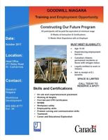 Looking For a Career in Construction? Goodwill Niagara can help!
