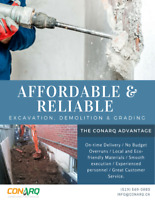 Affordable and Reliable Excavation, Demolition & Grading!