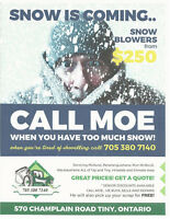 SNOW REMOVAL-DISCOUNTS FOR SENIORS