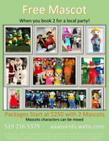 Mascots for Events and Parties!