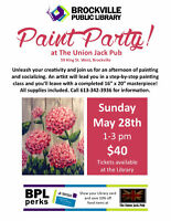 "*ALMOST SOLD OUT* PAINT PARTY Fundraiser""HYDRANGEAS""for the BPL"