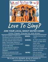Orillia Chapter of Shout Sister Choir is Welcoming New Members!