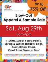 GIANT APPAREL SAMPLE SALE - UP TO 75% OFF!