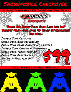 Snowmobile Checkover - All Makes & Models - Just $99!