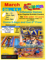 Inflatable March Break Event Fredericton Exhibition center