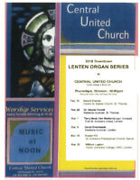 2018 Lenten Organ Series