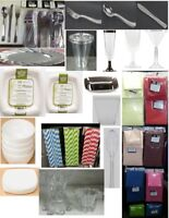 CLEAROUT-Disposable Cups,Cutlery,Napkins,Compostable Plates,Etc.