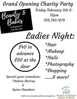 Ladies night fundraiser for the Women's Shelter of Barrie