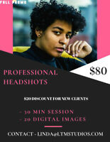 Professional Headshot for $80 (Business or Personal)