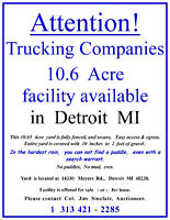Trucking / Intermodal  Yard for sale or lease in  Detroit  MI