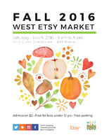 WEST Etsy Fall Market Handmade Craft Sale and Vintage Market