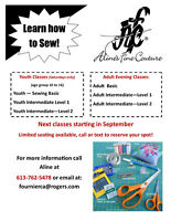 SEWING CLASSES FOR ALL!