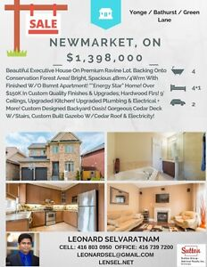Beautiful Newmarket home for sale- 4+1 bed 4 bath .. stunning !