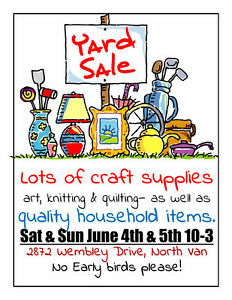 Crafty yard sale - Quality Children's books too!
