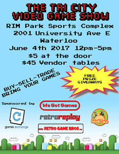 The Tri-City Video Game Show  Sunday June 4th 2017