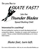 Speed Skating Coaches needed!