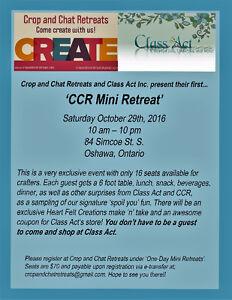 12 Hour Mini Retreat at Class Act in Oshawa (scrapbooking)