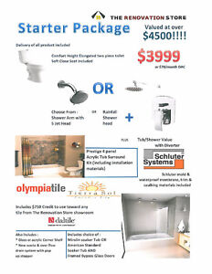 Bathroom Packages - 15% OFF MARCH ONLY!!! - Financing Available-INSTALLATION NOW INCLUDED!!!