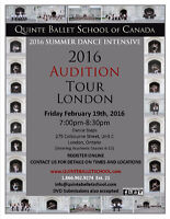 Quinte Ballet School of Canada - London Audtion