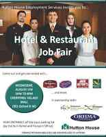Hotel and Restaurant Job Fair: August 5 at 3pm
