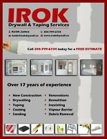 IROK DRYWALL - WINNIPEG'S DRYWALL PROFESSIONALS