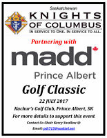 Knights of Columbus and MADD Prince Albert Golf Classic