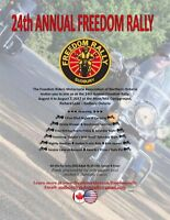 """24th ANNUAL """"FREEDOM RALLY"""" MOTORCYCLE RALLY"""