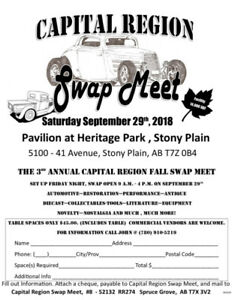 Capital Region Fall Swap Meet
