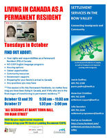 Living in Canada as a Permanent Resident Information Session