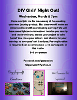 DIY girls night out March 15