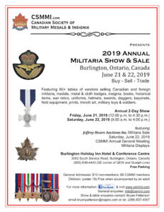 Canadian Society of Military Medals & Insignia Show / Sale